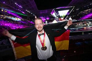 Der beste Fliesenleger der Welt: Janis Gentner holte die Goldmedaille für Deutschland<br />