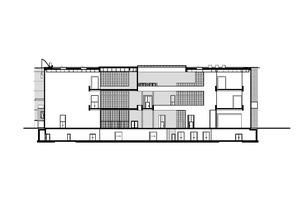 """Schnitt C-C, Maßstab 1:500<span class=""""bildnachweis"""">Zeichnungen: gmp Architekten von Gerkan, Marg und Partner</span>"""