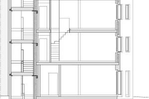 """Schnitt, Maßstab 1:250<span class=""""bildnachweis"""">Zeichnungen: hochstrasser.architekten</span>"""