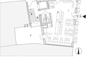 Grundriss Erdgeschoss, Maßstab 1:250