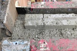 Beim Betonieren mussten die Handwerker darauf achten, dass die Dämmung nicht zu einer Seite gedrückt wird