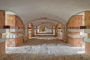 Die Gewölbe wurden während der Tieferlegung des Kellers vorübergehend abgefangen