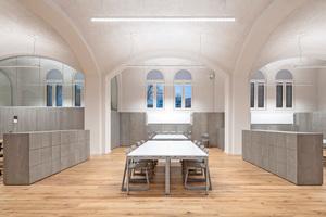 """Studienraum mit aufwendig sanierten Gewölben, die einen akustisch wirksamen Putz mit Korkeinlagerungen erhielten, der den historischen Oberflächen ähnelt<span class=""""bildnachweis"""">Fotos: Oliver Jaist</span>"""