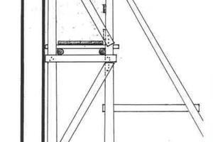 Eine Variante des freistehenden Gerüstes war das abgebundene, genagelte Gerüst, das auf Unterlagsbohlen ruhte<br />