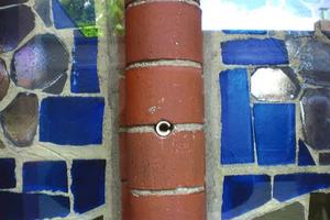 Fatale Fehlleistung: Ankerbohrung in einem 5 m hohen gemauerten vertikalen Mittelstab eines Kirchenfensters<br />