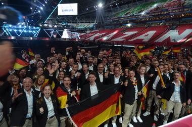 Das deutsche Team bei der Eröffnungsfeier