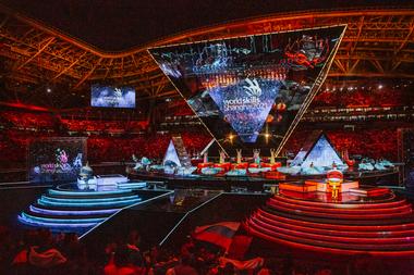 Eröffnungs- und Abschlussfeier waren inszeniert wie Olympische Spiele. Die nächsten WorldSkills finden 2021 in Shanghai stattFoto: WorldSkills