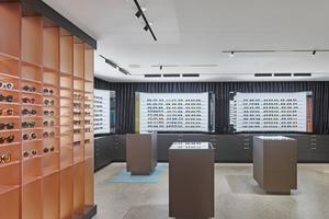 Hochwertig ausgestatteter Verkaufsraum für Brillen<br /><br />