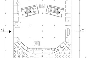 "Grundriss Erdgeschoss, Maßstab 1:750<span class=""bildnachweis"">Zeichnungen: Staab Architekten</span>"