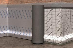 Bei der horizontalen Verlegung wird die Bahn um den Baukörper herumgewickelt<br />