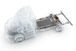 Basis des Hybrid Power Chassis ist das variable Leichtbau-Chassis, das als Systemträger einen modularen Einsatz der Batteriepakete und Komponenten ermöglicht