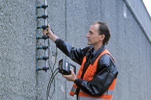 Potenzialfeldmessung zur Ermittlung der Korrosionsgefahr an einer Stützmauer