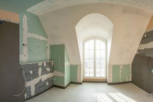 Im Zuge der Sanierung wurden neue Bäder mit Bauplatten aus Polystyrol-Hartschaum von wedi eingebaut