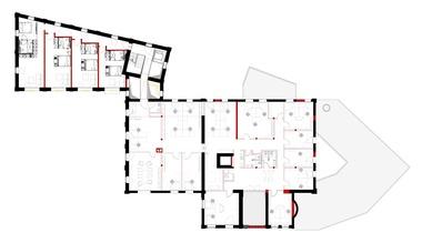 Grundriss 2. Obergeschoss, ohne Maßstab