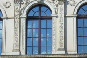 Fassadendetail nach Abschluss der Restaurierung