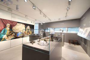 Ausstellungsraum im Anbau im ersten Obergeschoss