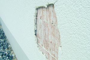 Fassadenschäden sind häufig das Resultat eines Putzes mit zu hoher Festigkeit