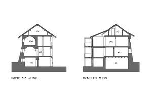 Schnitt AA und BB, Maßstab 1:200 Zeichnungen: Stefan Pardatscher