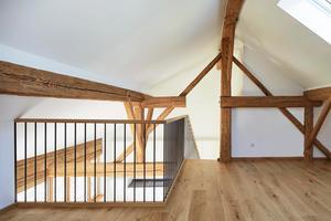 Schlafgalerie im Dachgeschoss der Ferienwohnung im zweiten Obergeschoss