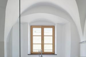 Bad mit Gewölbe in der Ferienwohnung im ersten Obergeschoss<br />Fotos (3): Rene Riller