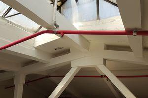 """Bekleidet wurden die Stahlkonstruktionen je nach U/A-Wert mit 20 mm oder 25 mm dicke """"Glasroc F""""-Platten"""