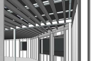 Die Planung des Büroneubaus erfolgte über Elementierungen mit dem Building Information Modelling<br />Zeichnungen: BSU