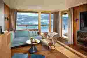 Im Neubau des Hotels Bergkristall Lodge entstanden 25 Suiten in modern-alpinem Chic mit Fußböden aus Eiche-Dreischichtdielen<br />Foto: Resort Bergkristall