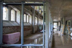 Die gut erhaltenen Fensterflügel wurden aufgearbeitet und von innen durch Kastenfenster energetisch ertüchtigt