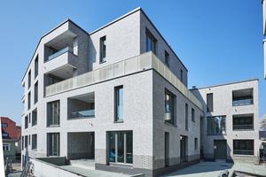 """In nur wenigen Monaten Bauzeit errichtete die Wohnungsbaugenossenschaft Wernau eG mit dem """"Carré am Herdweg"""" ein modernes Wohn- und Gewerbehaus im Zentrum von WernauFotos: Saint-Gobain Rigips"""