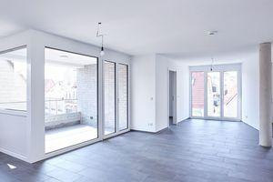 """Das """"Carré am Herdweg"""" in Wernau beherbergt 13 Wohnungen in Größen von 60 bis 100 m<sup>2</sup>. Der komplette Innenausbau erfolgte in Trockenbauweise"""