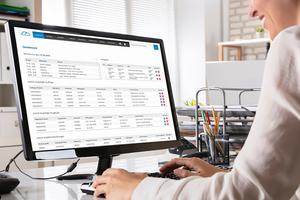 Im Büro können aus den Clouddaten schnell Rechnungen generiert werden