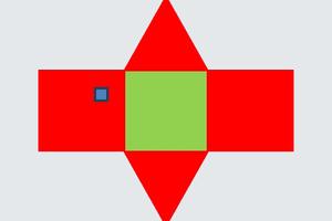 """<irspacing style=""""letter-spacing: -0.01em;"""">Abwicklung eines Satteldaches – verglichen mit der Grundfläche</irspacing>"""