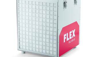 Wichtige Ergänzung: Der tragbare Bauluftreiniger VAC 800-EC filtert selbst feinste Stäube aus der Luft.