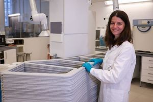 Das Forscherteam von HeidelbergCement entwickelt Baustoffrezepturen, die bei verschiedenen 3D-Druck-Techniken eingesetzt werden können<br />