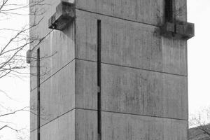 Der Kirchturm in Freiburg vor Beginn der Umbauarbeiten ⇥Foto: Ingrid Maria Buron de Preser