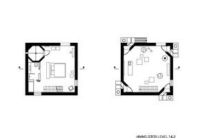 Grundriss drittes Obergeschoss, Maßstab 1:200