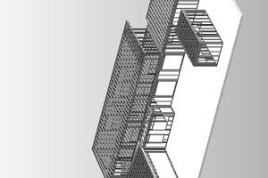 Isometrie Stahlleichtbau, ohne Maßstab<br />Zeichnungen: Frank Mauer