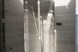 Das gedruckte Treppenhaus im Erdgeschoss