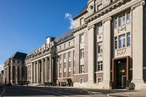 Das ehemalige Amts- und Landgericht Düsseldorf wurde zwischen 1913 und 1923 an Stelle des frühklassizistischen, alten Statthalterpalais errichtet