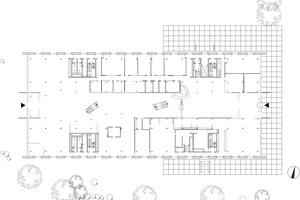 Grundriss Erdgeschoss, Maßstab 1:750<br />