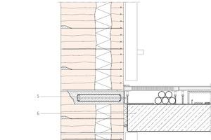 Fassadenschnitt, Maßstab 1:25<br />