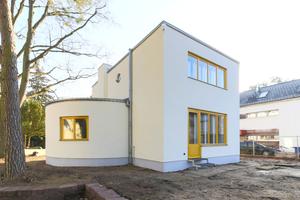 Mit der vor einem Jahr abgeschlossenen Sanierung des Hauses Pungs in Kleinmachnow bei Berlin wurde das ursprüngliche Aussehen eines wenig bekannten Hauses der Moderne aus den frühen 1930er Jahren wiederhergestellt<br />Foto: Florian Höll / Müller-Stüler und Höll