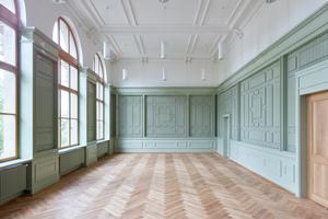 Im Zentrum des Gebäudes befindet sich der wieder hergestellte Examensaal, der heute als Aula dient<br />