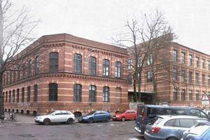Das Leipziger Fabrikgebäude vor der Aufstockung