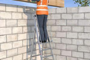 Eine leichte Plattformleiter garantiert einen guten und sicheren Stand<br />