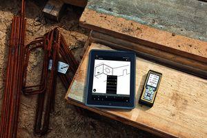 Die Bluetooth Smart-Technologie erlaubt die kabellose Übertragung von Messdaten auf Smartphone und Tablet.<br />