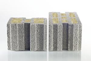 Massive Leichtbeton-Mauersteine von KLB bestehen zu einem großen Teil aus leichten, porigen Zuschlägen wie Bims. Dank ihrer Beschaffenheit erreichen sie neben einer hohen Wärmedämmung auch gute Schallschutzwerte.