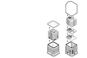 """Isometrie Konstruktionsprinzip, ohne Maßstab<span class=""""bildnachweis"""">Zeichnung: Björn Christopher Liese</span>"""