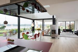 Auch beim modernen Wohnen spielt Glas eine wichtige gestalterische Rolle.