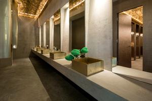 Die Sanitärräume wurden komplett mit imprägnierten Feuchtraumplatten und zementgebundenen Platten ausgebaut